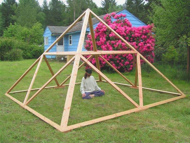 Precision Pyramids Handmade Wooden Meditation Pyramids